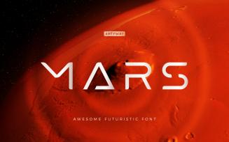 Futuristic Mars Headline and Logo Font