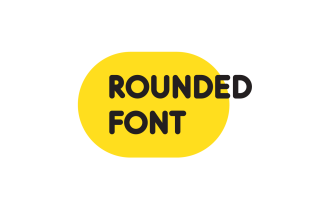 Rounded softed Modern Font