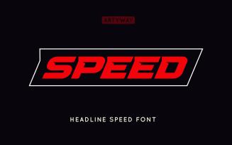 Speed Headline and Logo Font