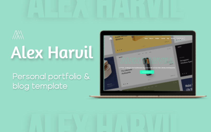 AlexHarvil - Personal, Portfolio, CV & Resume Website Template