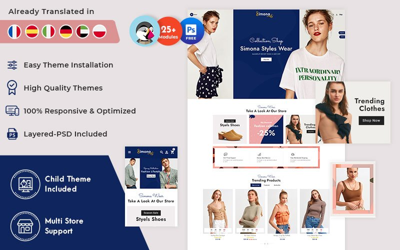 Tema para prestashop - Categoría: Moda - versión para Desktop