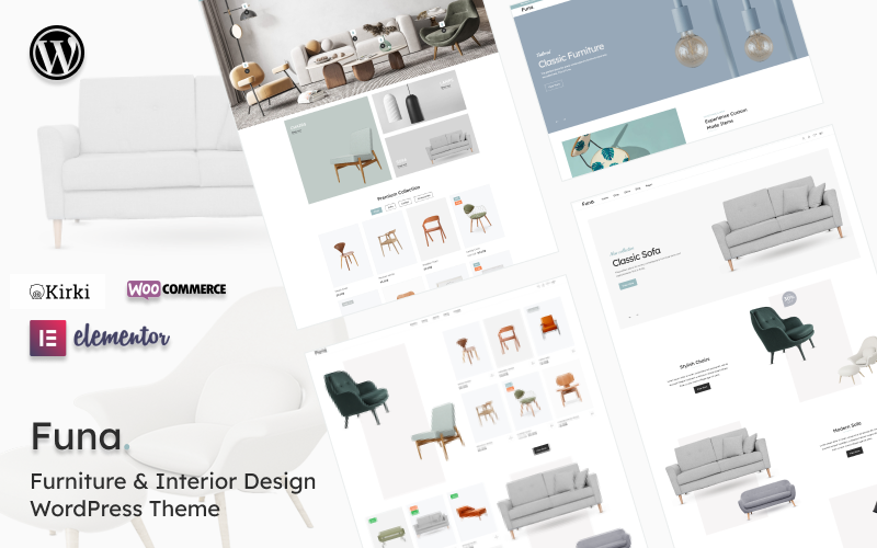 Funa - Furniture & Interior Design WooCommerce Theme