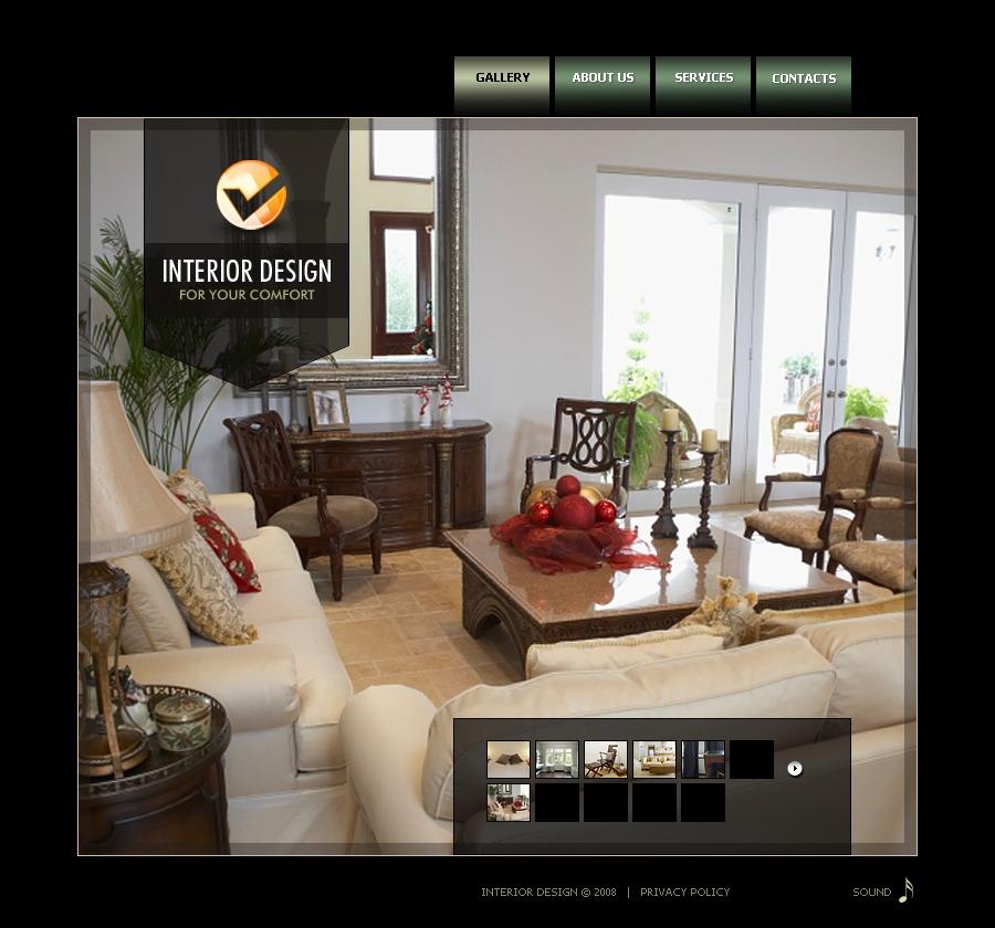 Interior Design Flash Template 19551: Interior Design Flash Template #20182