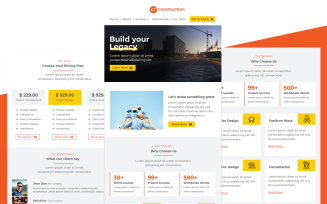 Construction – Multipurpose Construction & Architects Studio Email Template Responsive