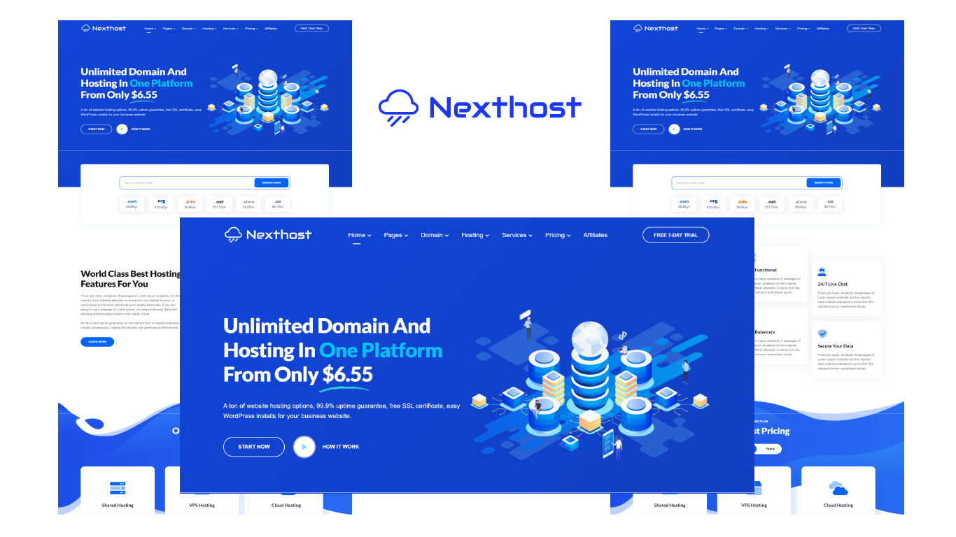 Nexthost - Web Hosting and Domain HTML5 Template