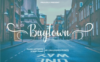 Baytown Handwriting Calligraphy Font
