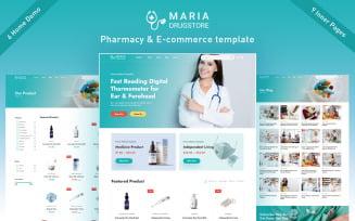 Maria - Pharmacy and E-commerce Html5 Template