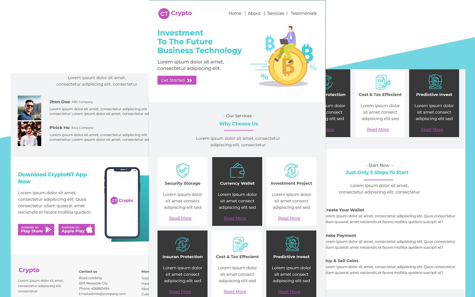 Crypto – Multipurpose Cryptocurrency Email Template Responsive