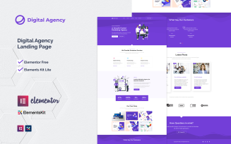 Digital-agency   Elementor Kit Landing Page Template