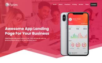 Parim - App HTML Landing Page Template