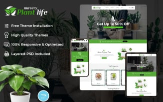 Plant Life Nursery - OpenCart Responsive Theme