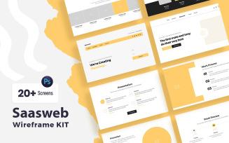 SaasWeb Wireframe Kit Template