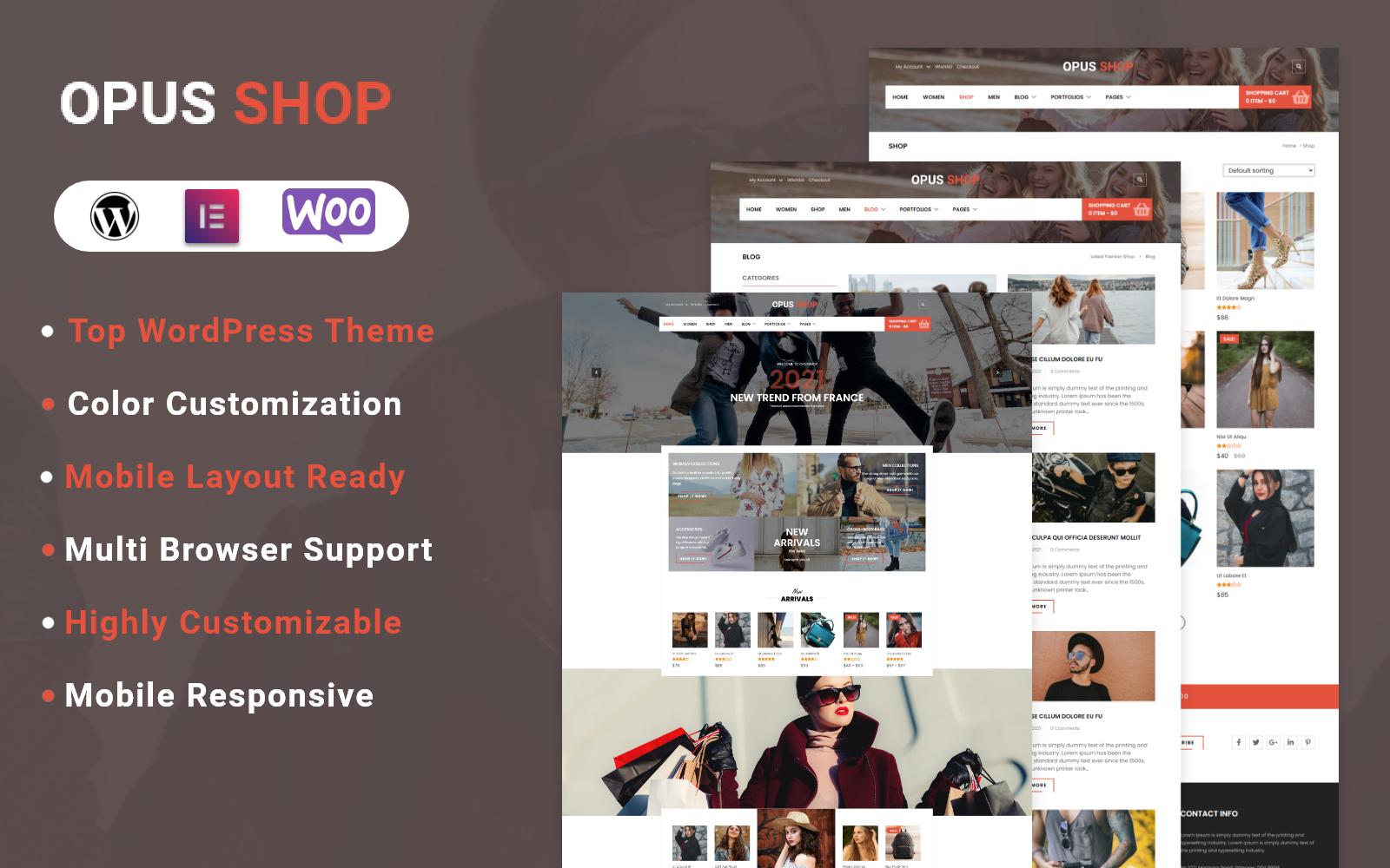 OpusShop - Woocomerce WordPress Theme