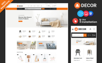 Decor - Furniture and Lighting Multipurpose Responsive OpenCart Store