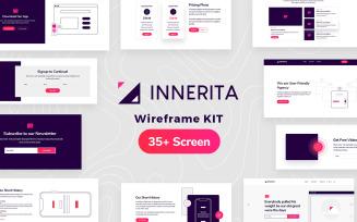 Innerita Wireframe Kit Template