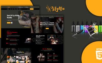 Watfa Tattoo Studio And Barbershop Website Template