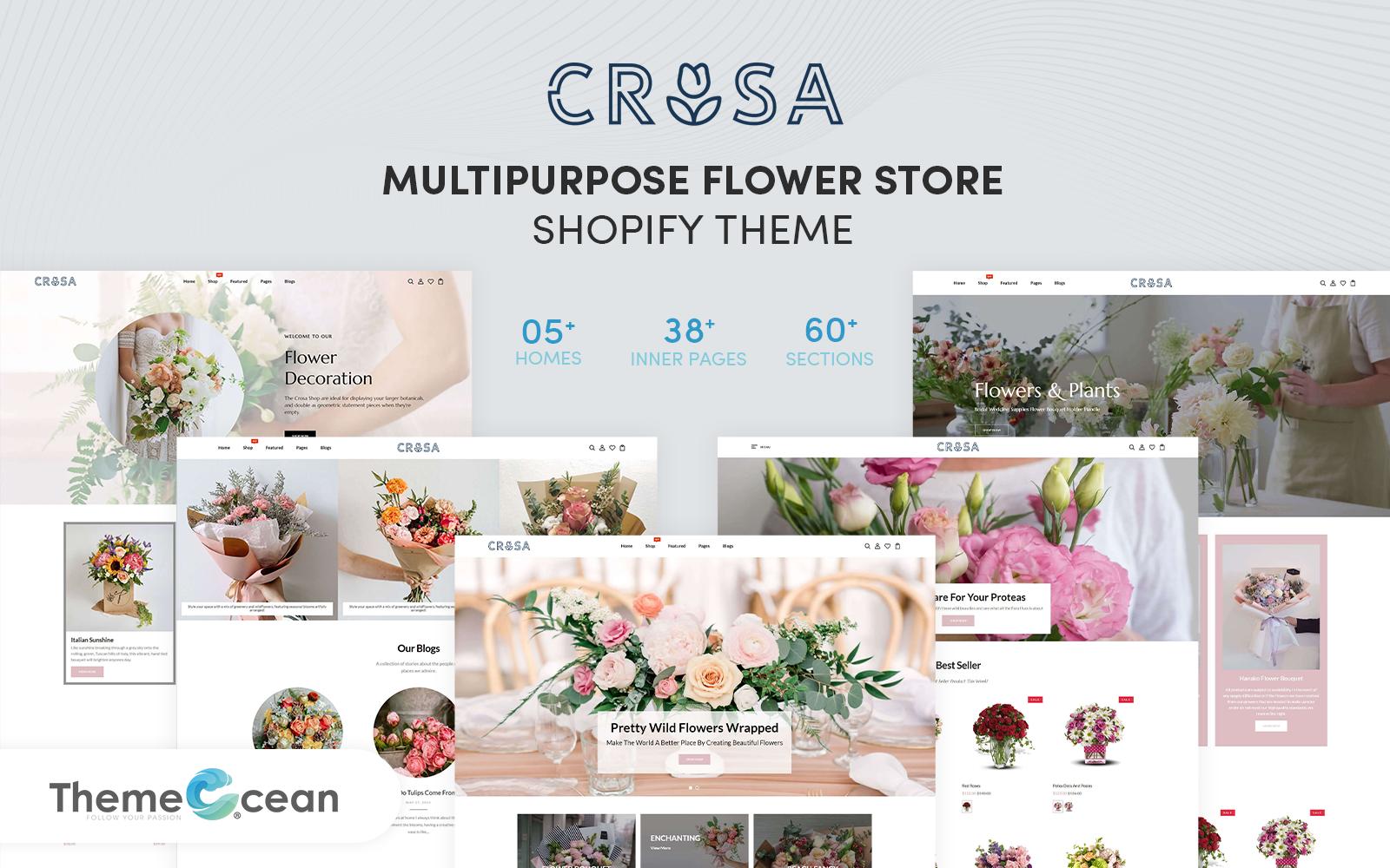 Crosa   Multi-Purpose Shopify Theme for Flower Store