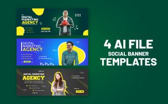 4 Unique Social Media Banner Design