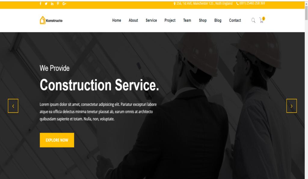Konstructo Construction-Multipurpose Premium HTML5 Website Template