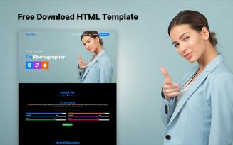 Ava - Personal Portfolio Free Landing Page Template