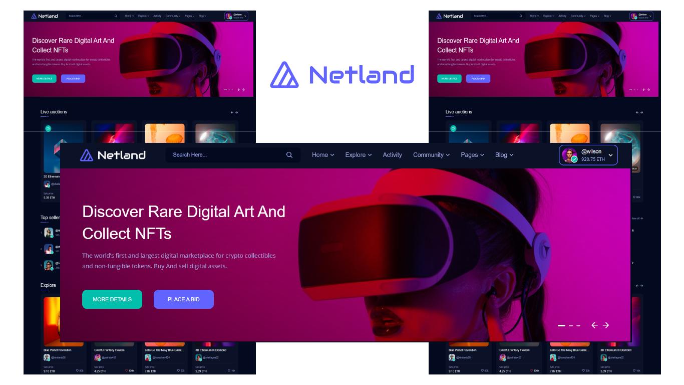 Netland – NFT Marketplace HTML5 Template