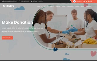 Ghaniyy - Charity & Donation One Page Template