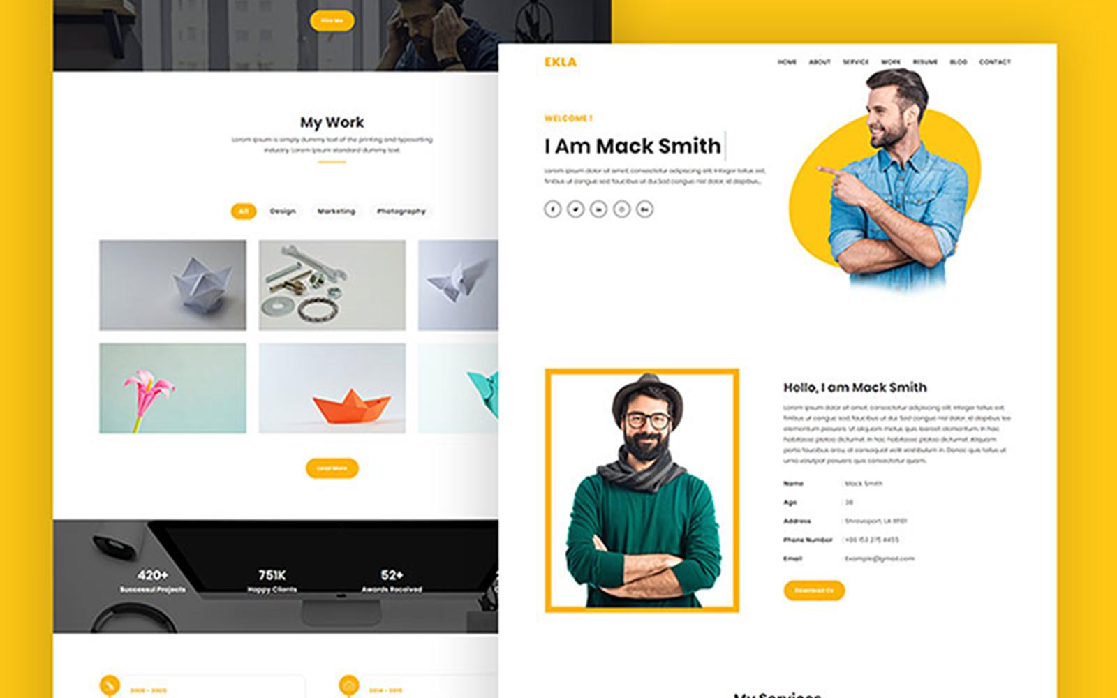 Ekla Multipurpose Portfolio Website Template