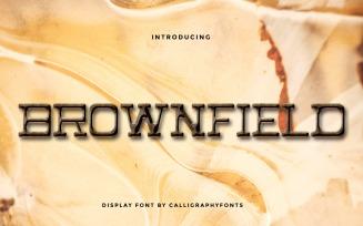 Brownfield Vintage Serif Font
