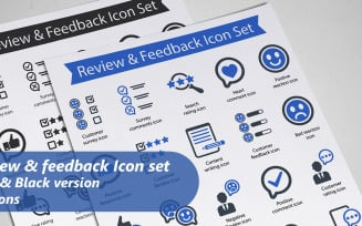 Review and feedback Icon Set