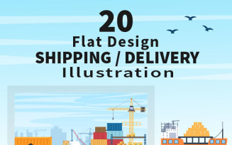 20 Delivery Container Truck or Plane Transportation