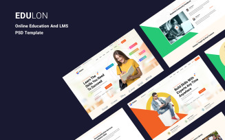Edulon - Online Education And LMS PSD Template