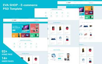 Eva Shop- E-commerce Psd Template