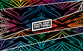 Explode Pattern - Pattern Background Template