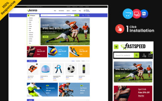 Fastspeed – Sports, Outdoors and Travel Multipurpose Responsive OpenCart Store