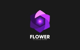 Flower Gradient Logo Style
