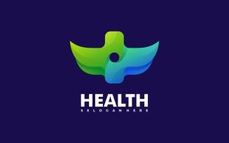 Health Symbol Gradient Logo