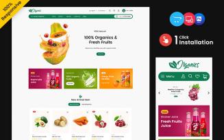 Organic – Food and Drink Multipurpose Responsive OpenCart Store