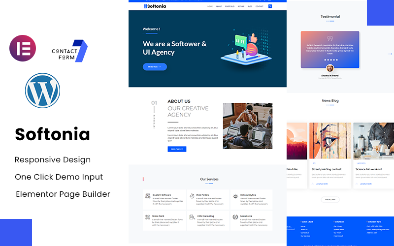 Softonia - IT and Business Consulting WordPress Theme