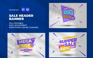 Sale Banner Header Promotion