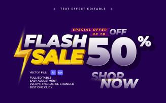 Text Effect Sale Banner Design