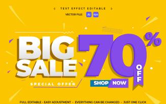 Text Effect Sale Banner Offer
