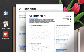 Free Clean Resume Cv Template with MS Word Apple Pages Powerpoint Format
