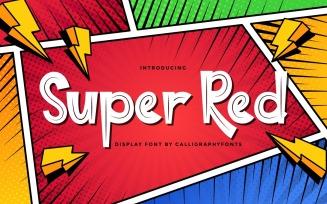 Super Red Brush Comic Font