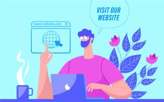 Visit Our Website Illustration Concept