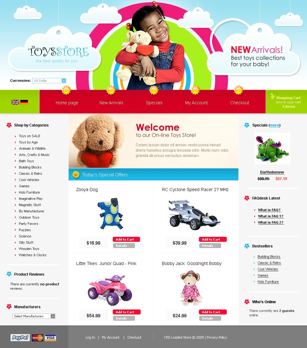 Toy Store CRE Loaded Template #20492