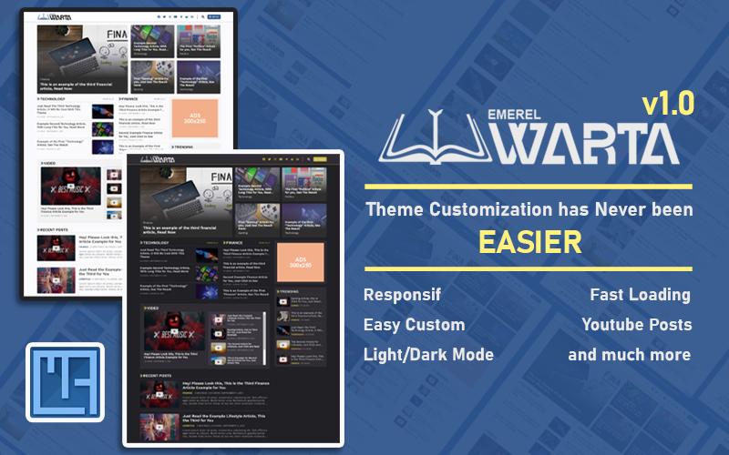 Emerel Warta - Responsive Blog / Magazine / News Wordpress Theme