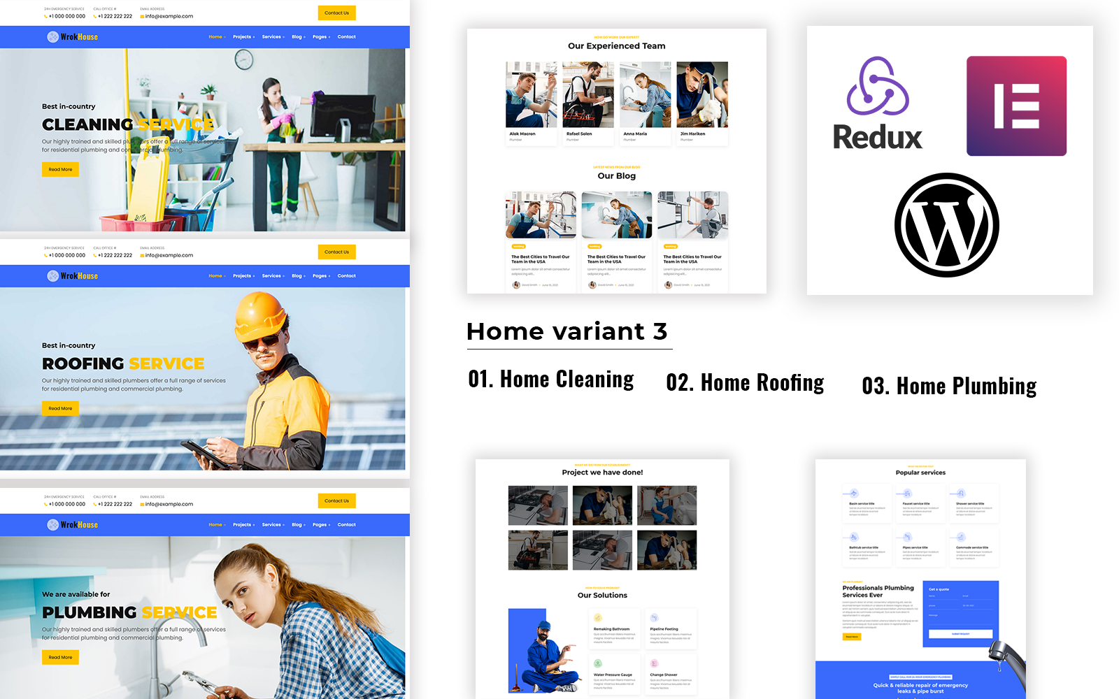 Workhouse - Elementor WordPress Theme - Plumbing, Cleaning and Roofing