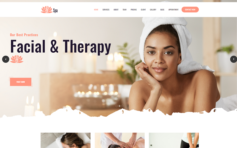 Lotus Spa - Beauty Creative HTML5 Template