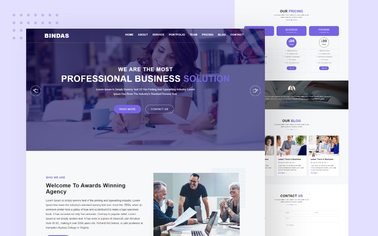 Bindas Consulting & Business Multipurpose Website template
