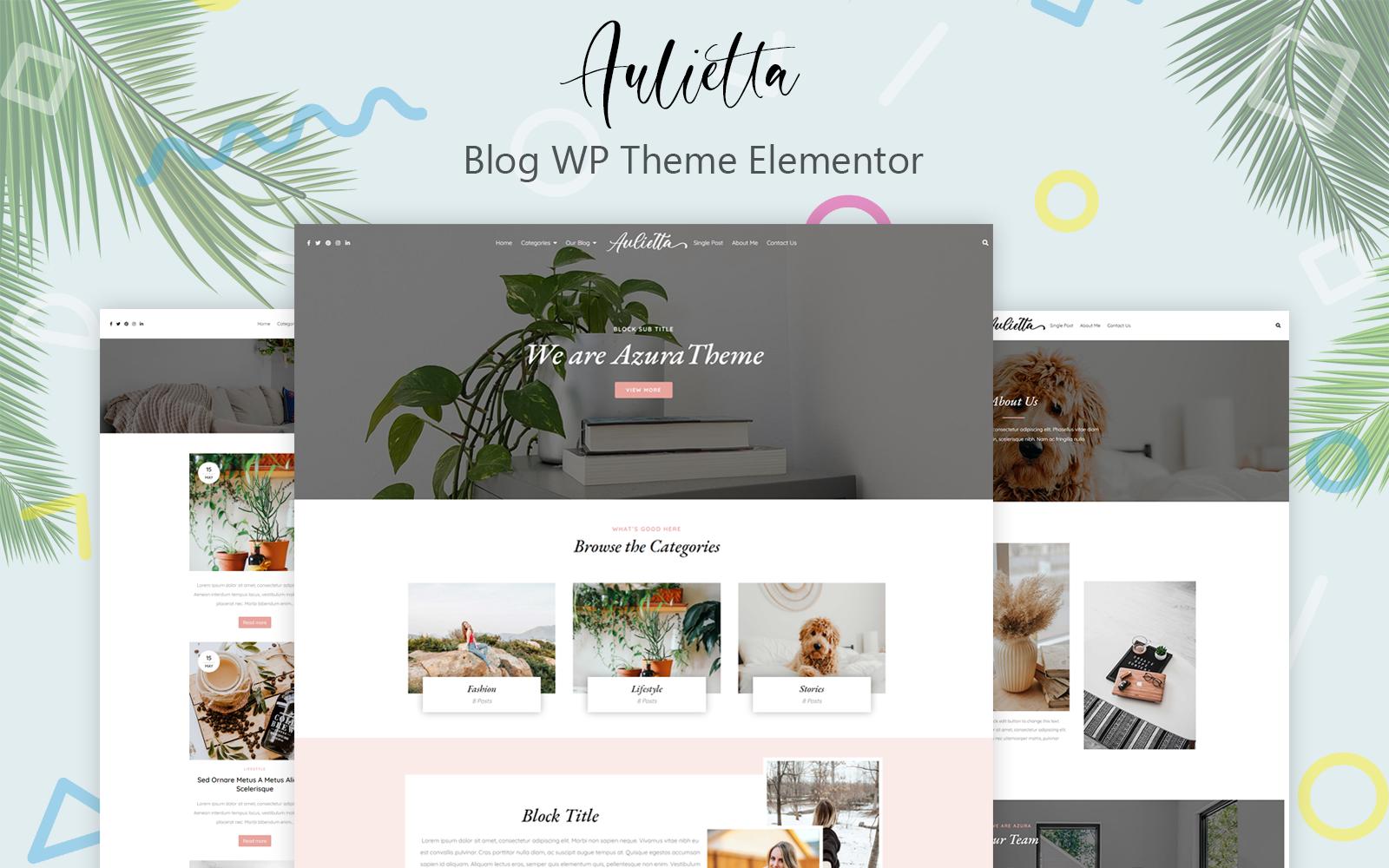 Aulietta - Blog WP Theme Elementor